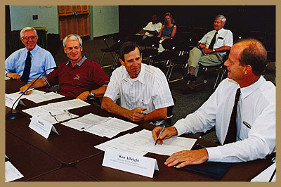 Groundwater Advisory Committee members at meeting.